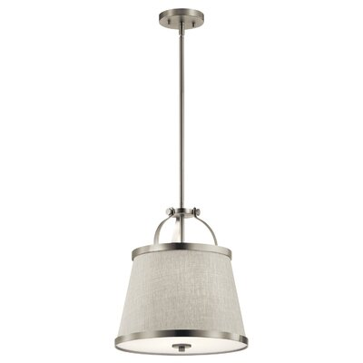 Sachiko 2-Light Drum Pendant Fixture Finish: Brushed Nickel
