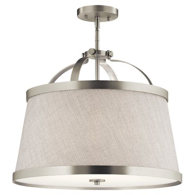 Sachiko 3-Light Drum Pendant Fixture Finish: Brushed Nickel