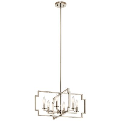 Jazlyn 6-Light Candle-Style Chandelier