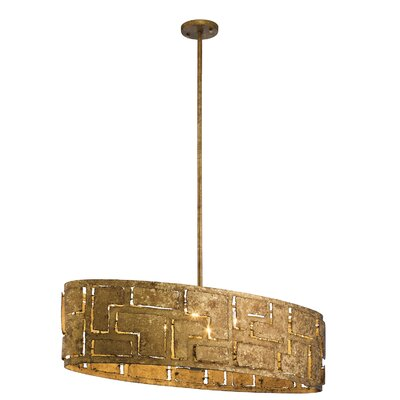 Kinman Oval 6-Light Drum Pendant