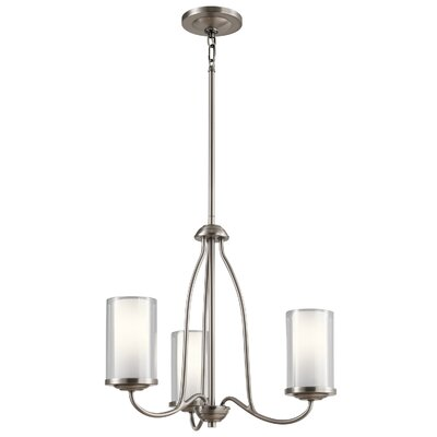 Vanover 3-Light Candle-Style Chandelier Finish: Classic Pewter