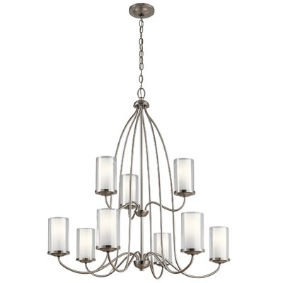 Vanover 9-Light Candle-Style Chandelier Finish: Classic Pewter