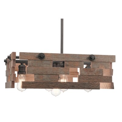 Cowan 5-Light Kitchen Island Pendant Size: 7.5 H x 23.5 W x 23.5 D