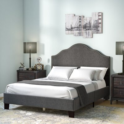Kinnison Upholstered Panel Bed Size: Queen, Color: Charcoal