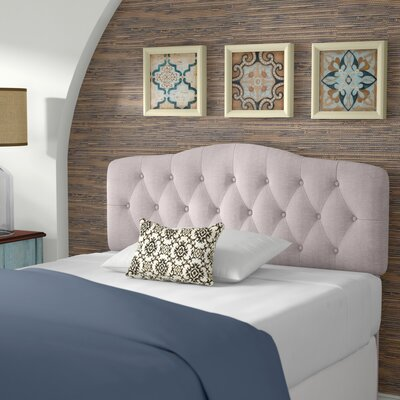 Charlottesville Upholstered Panel Headboard Size: Queen, Color: Beige