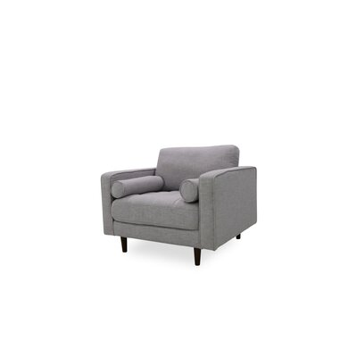 Gafford Lounge Armchair Upholstery: Light Gray