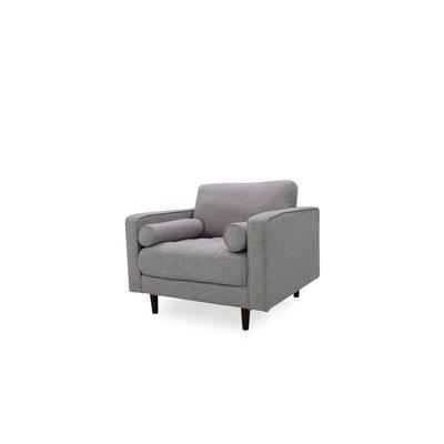 Gafford Lounge Armchair Upholstery: Light Gray