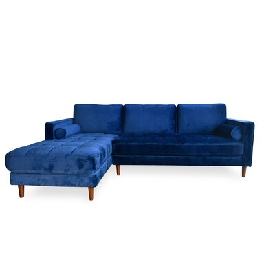 Gagliardi Velvet Sectional Orientation: Left Hand Facing