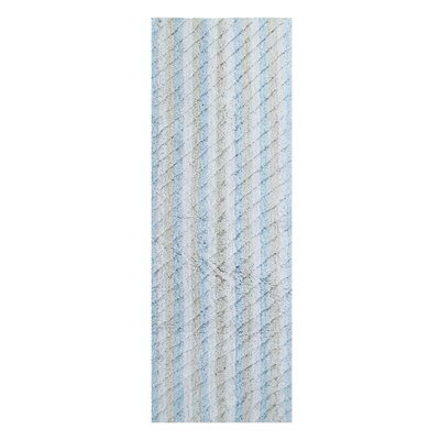 Casella Ring-Spun Bath Rug Color: Blue