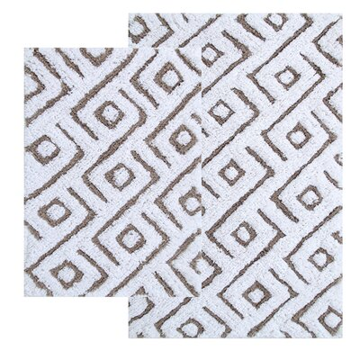 Garton 2 Piece Modern Bath Rug Set Color: Taupe