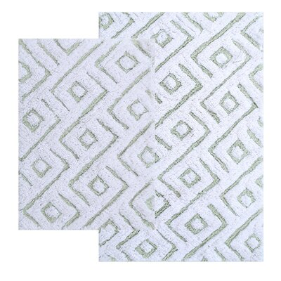 Garton 2 Piece Modern Bath Rug Set Color: Sage