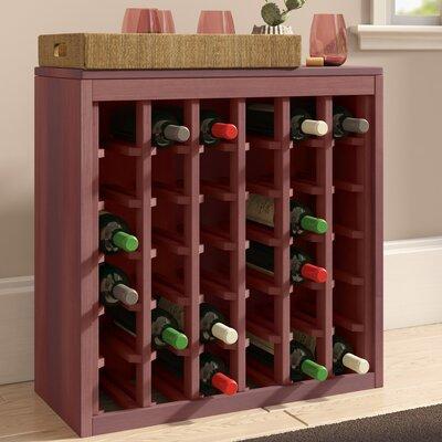 Karnes Redwood Deluxe 36 Bottle Floor Wine Rack Finish: Cherry Satin