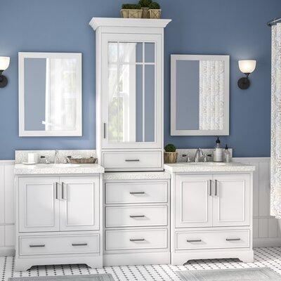 Geraldina 85 Double Sink Bathroom Vanity with Mirror