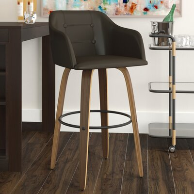 Jaqueline 28.25 Swivel Bar Stool