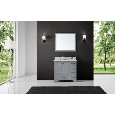 Cassel 36 Single Bathroom Vanity Set with Mirror Base Finish: Taupe Gray