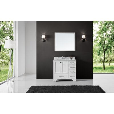Cassel 36 Single Bathroom Vanity Set with Mirror Base Finish: White