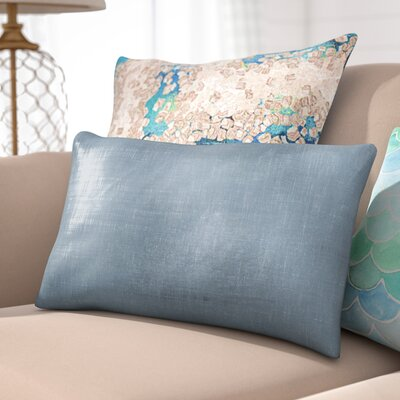 Clarisse Linen Lumbar Pillow Color: Silver Metallic