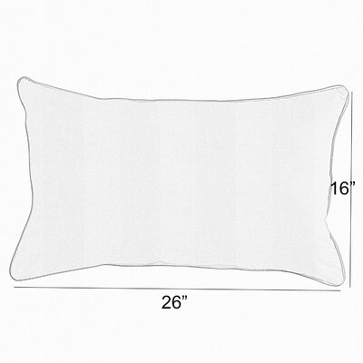 Vanhorn Indoor/Outdoor Lumbar Pillow Size: 6 x 26