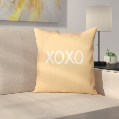 Forest River XOXO Throw Pillow Size: 20 H x 20 W, Color: Gold