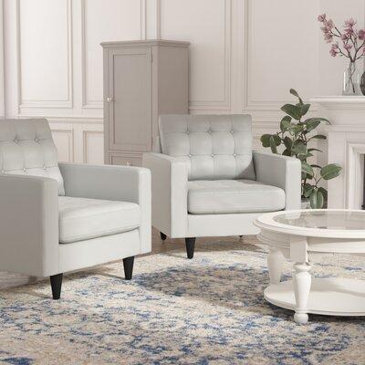 Warren Armchair Upholstery: White