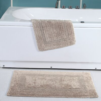 Tressler 2 Piece Reversible Bath Rug Set Color: Taupe