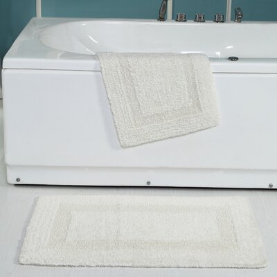 Tressler 2 Piece Reversible Bath Rug Set Color: Cream