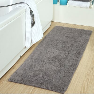 Tremper Reversible Bath Rug Color: Gray