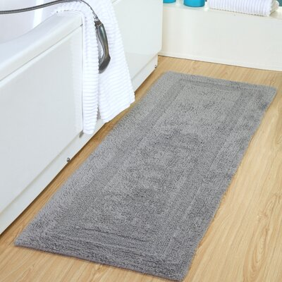 Tremper Reversible Bath Rug Color: Silver