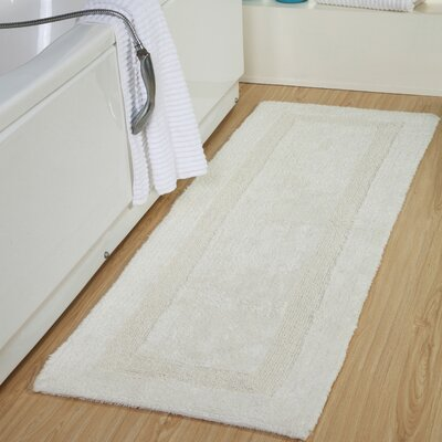 Tremper Reversible Bath Rug Color: Cream