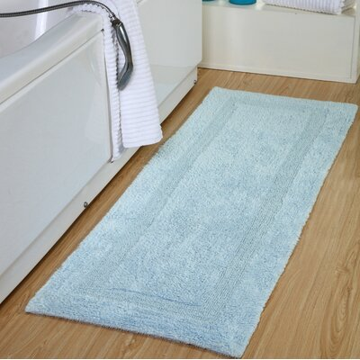 Tremper Reversible Bath Rug Color: Blue