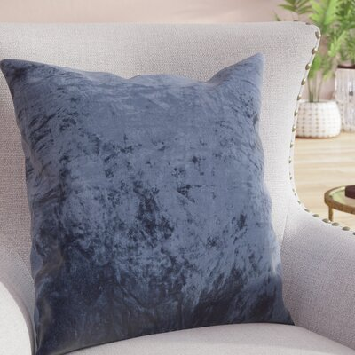 Evonne Handmade Contemporary Throw Pillow Size: 22 H x 22 W, Color: Blue