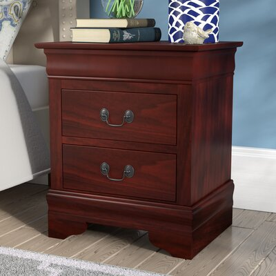 Oldbury 2 Drawer Nightstand Color: Cherry