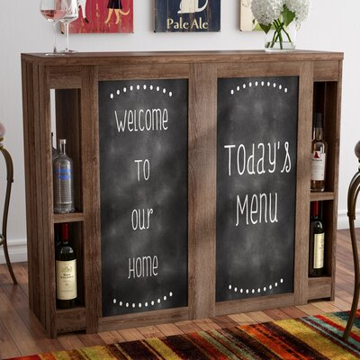 Carolyn Transitional Bar with Wine Storage