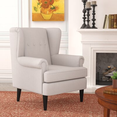 Christian Wingback Armchair Upholstery: Beige