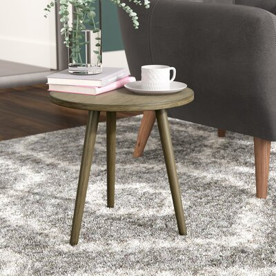 Beem Round End Table Color: Dessert Brown
