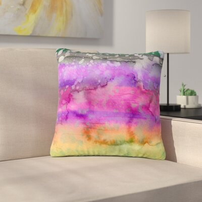 Ebi Emporium California Surf Outdoor Throw Pillow Size: 18 H x 18 W x 5 D, Color: Purple/Black