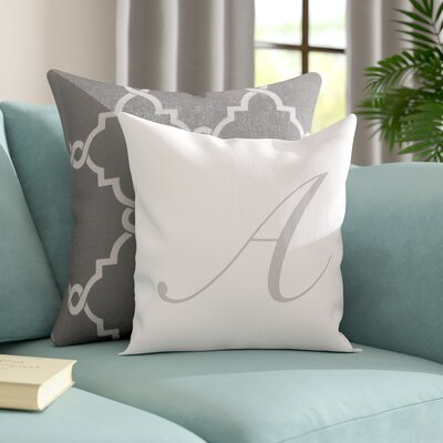 Bradley Personalized Script Initial Throw Pillow Letter: A