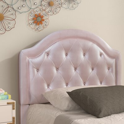 Cindy Leather Panel Headboard Size: Twin, Color: Pink