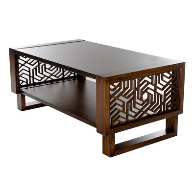 Forbach Geometric Coffee Table Table Top Color: Espresso, Table Base Color: Espresso