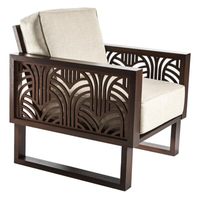 Ketter Armchair Upholstery: Oatmeal, Finish: Espresso