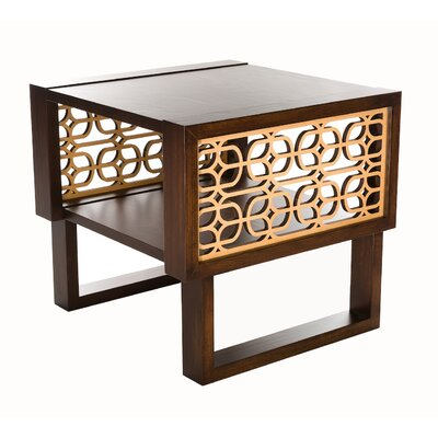 Herren Grille End Table Table Top Color: Espresso, Table Base Color: Espresso/Natural