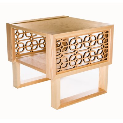 Herren Grille End Table Table Top Color: Natural, Table Base Color: Natural