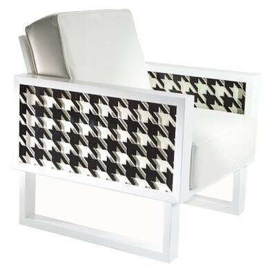 Floret Houndstooth Armchair