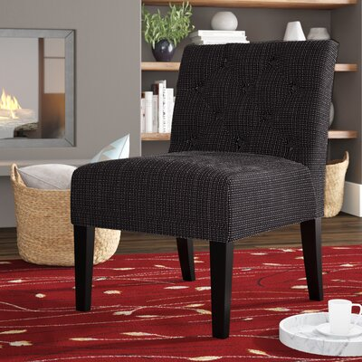 Lashbrook Slipper Chair Upholstery: Black