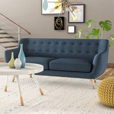 Milland Mid-Century Sofa Upholstery: Polo Blue