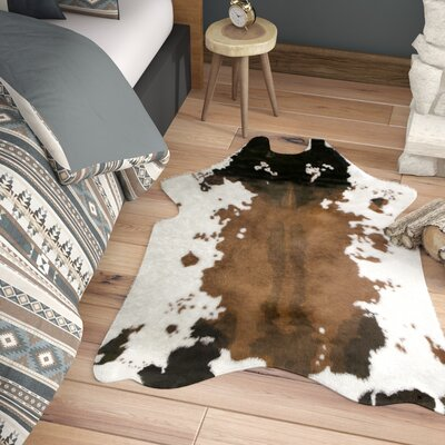 Armor Faux Cowhide White/Brown Area Rug