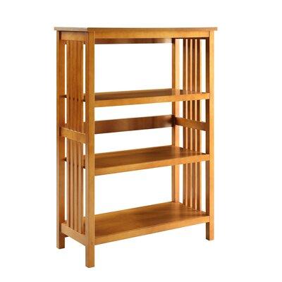 Morais 3-Shelf Standard Bookcase Color: Oak