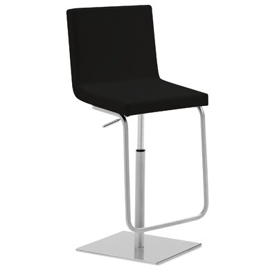 Afro SG Adjustable Height Swivel Bar Stool Upholstered: Black