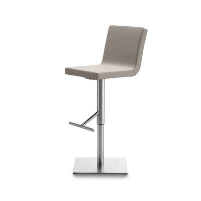 Afro Adjustable Height Swivel Bar Stool Upholstered: Taupe