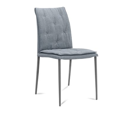 Diva Upholstered Dining Chair (Set of 2) Upholstery Color: Light Blue